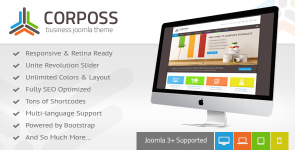 Corposs – Responsive Business Joomla Template