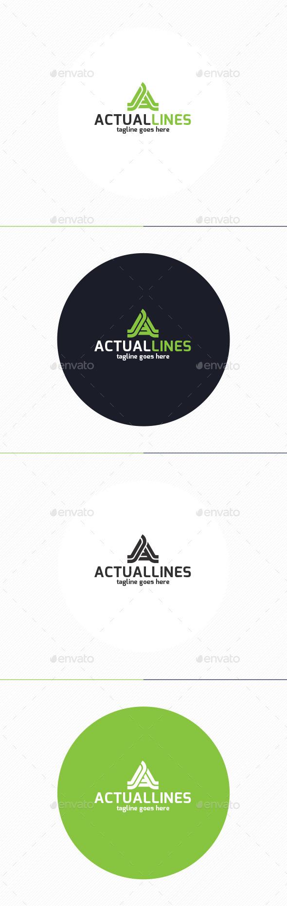 Actual Lines Logo • Letter A - Letters Logo Templates