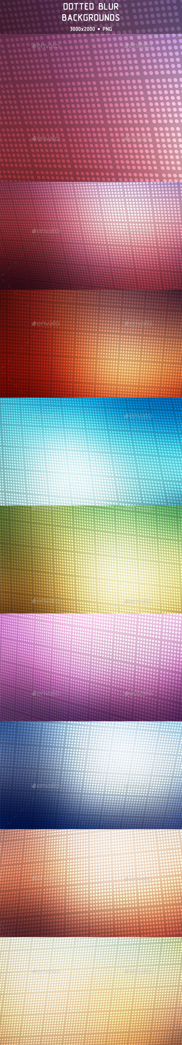 Dotted Blur Backgrounds - Abstract Backgrounds
