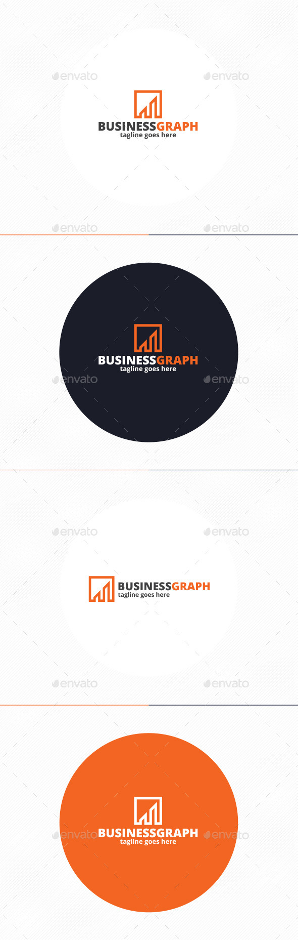 Business Graph Logo - Vector Abstract
