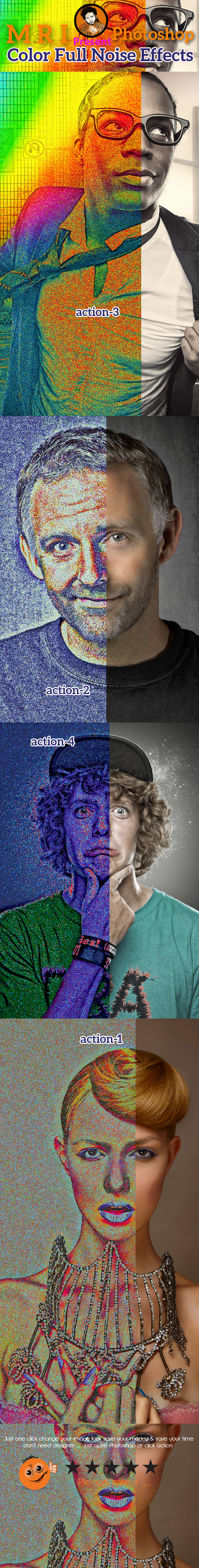 Color Full Noise Effects Action - Photo Effects Actions