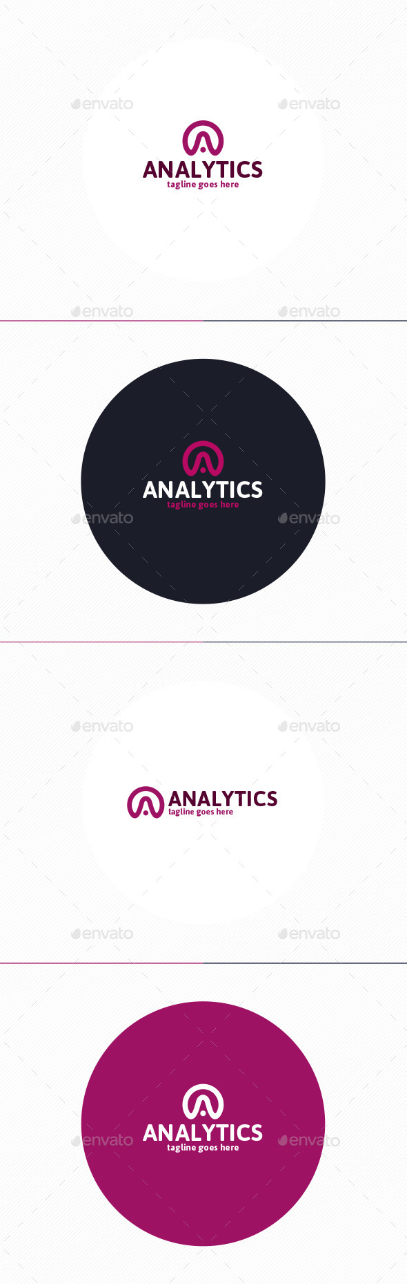 Analytics Logo • Letter A - Letters Logo Templates