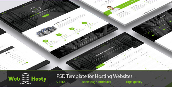 WebHosty – Hosting PSD Template