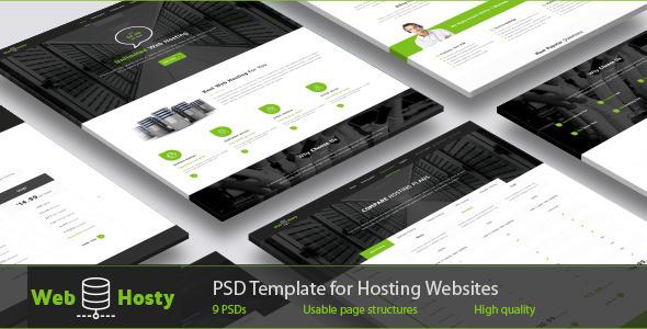 WebHosty - Hosting PSD Template