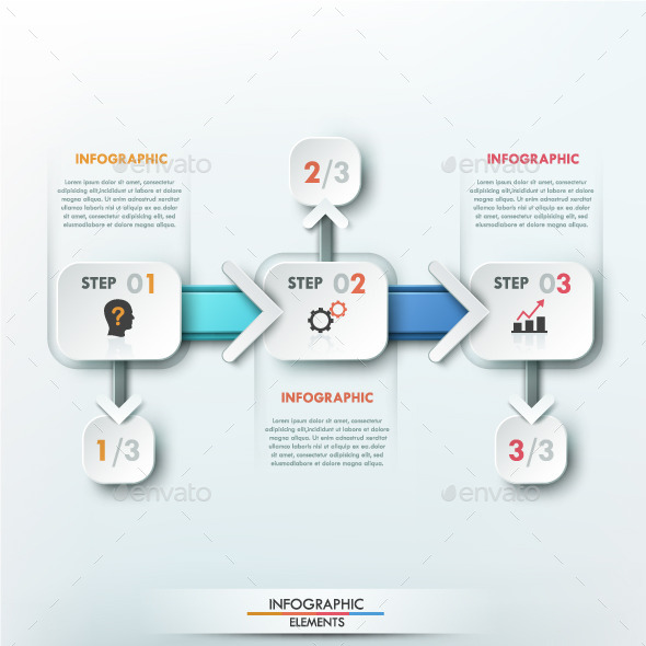 Modern Infographic Paper Process Template - Infographics