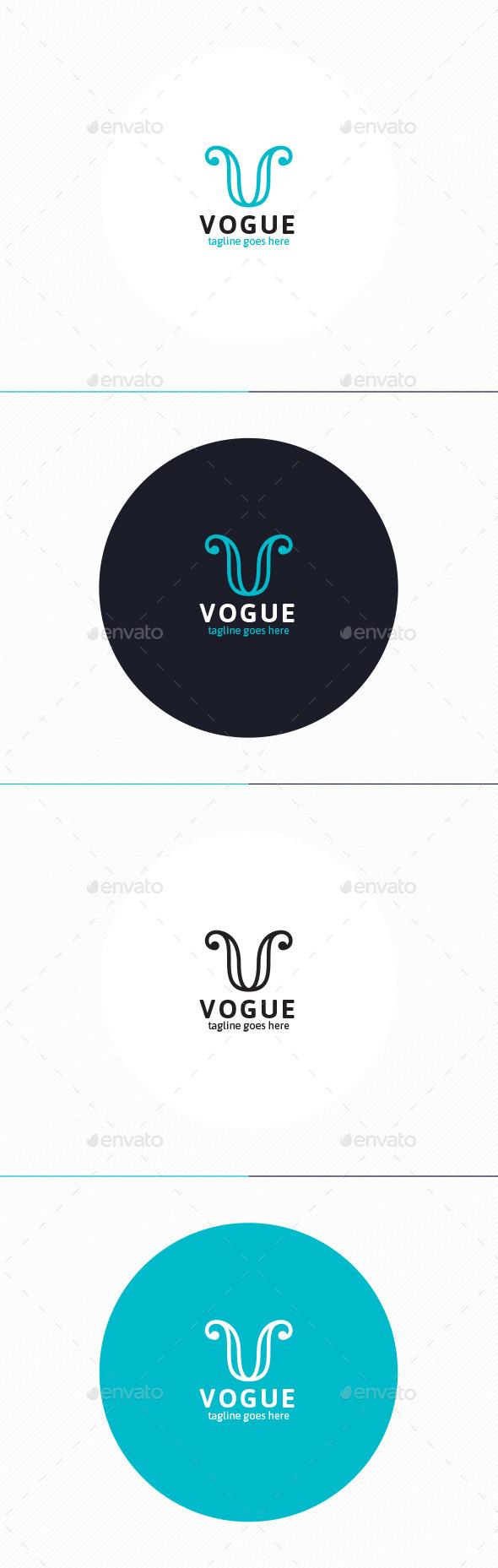 Vogue Logo • Letter V - Letters Logo Templates