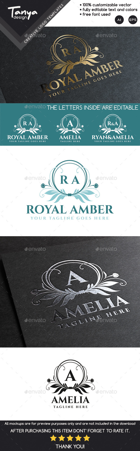 Royal Amber Logo Template - Crests Logo Templates