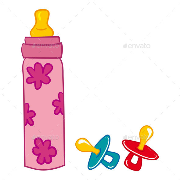 Baby Bottle and Pacifier - Food Objects
