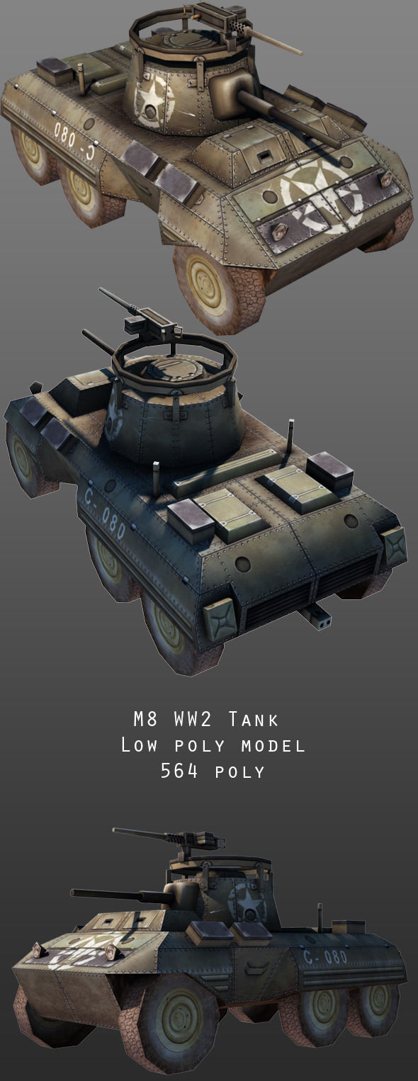M8 Tank - 3DOcean Item for Sale