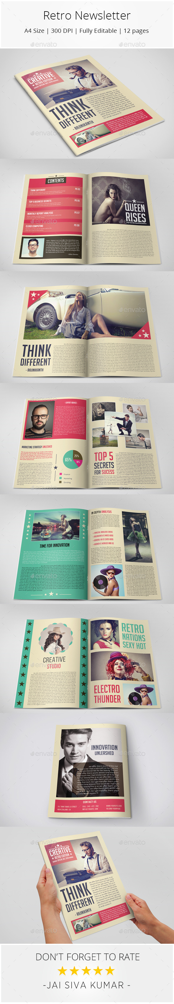 Retro Style Newsletter - Newsletters Print Templates