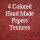 4 Colored Handmade Papers Texture - GraphicRiver Item for Sale
