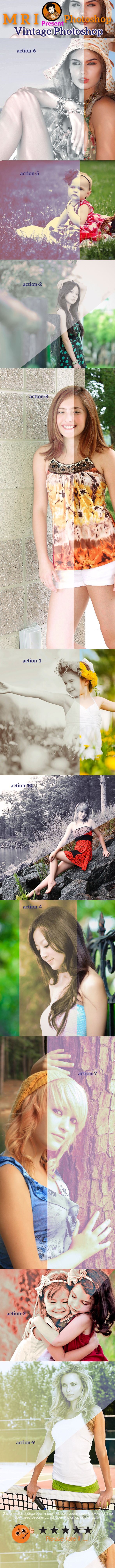 Vintage Photoshop - Photo Effects Actions