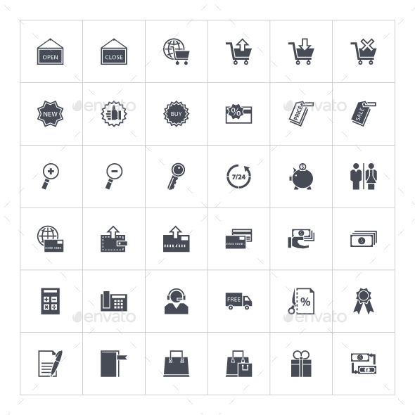 Shopping Icons - Man-made objects Objects