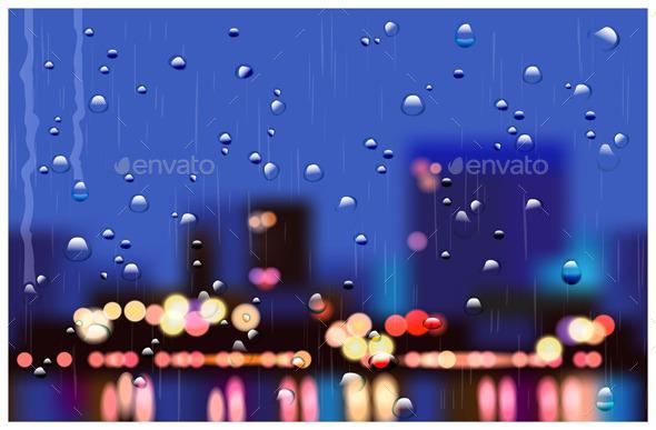Rainy City Streets - Buildings Objects