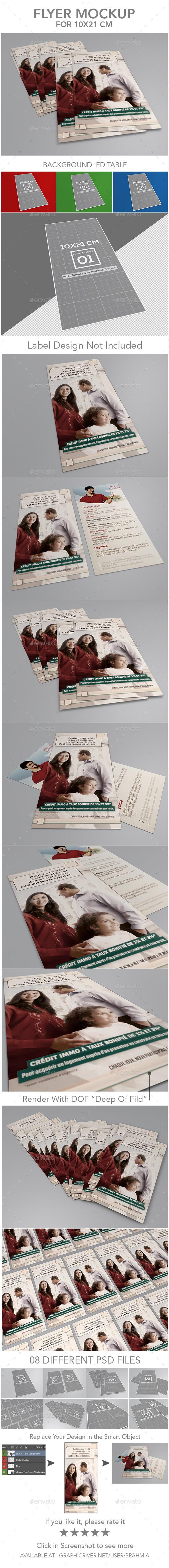 Flyer Mockup - Print Product Mock-Ups