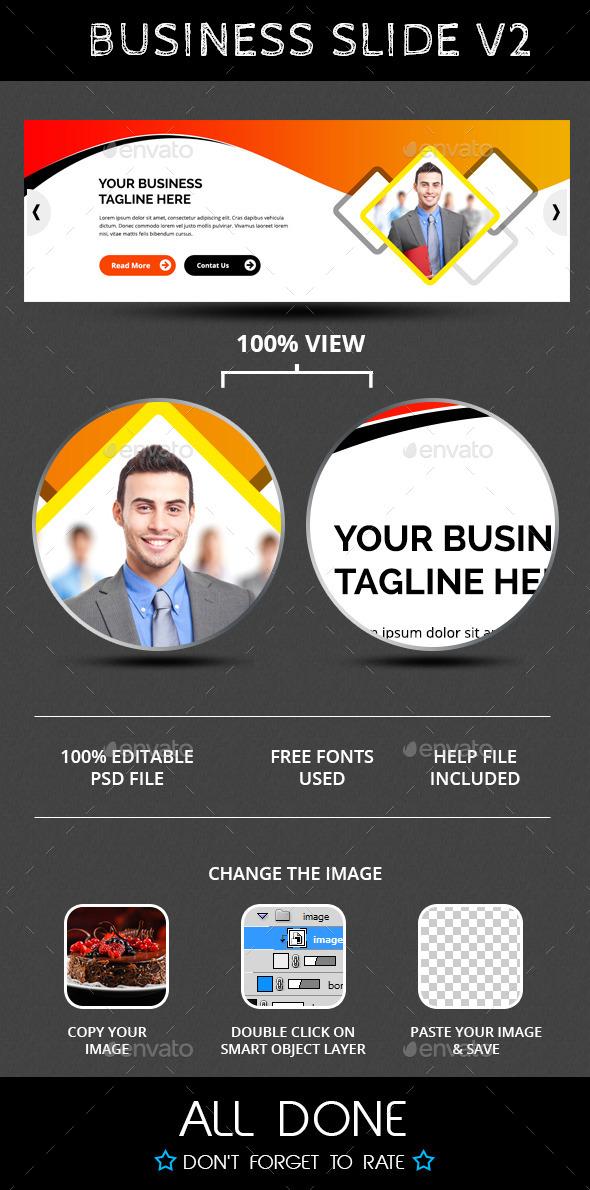 Business Slide V2 - Sliders & Features Web Elements