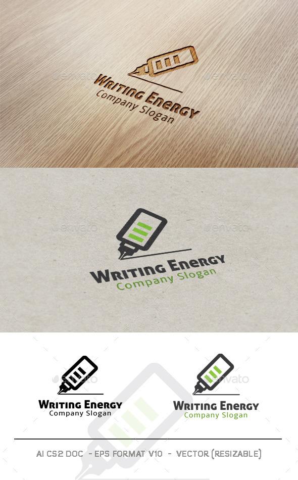 Writing Energy Logo - Objects Logo Templates