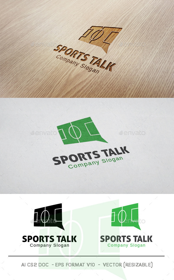 Sports Talk Logo - Objects Logo Templates