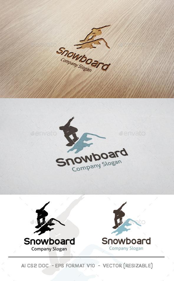 Snowboard Logo - Humans Logo Templates