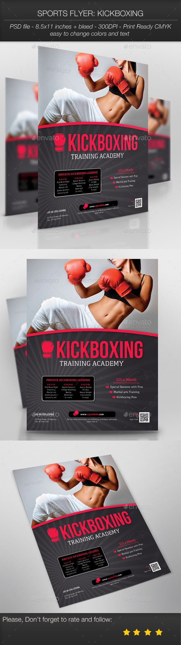 Sports Flyer: Kickboxing - Sports Events