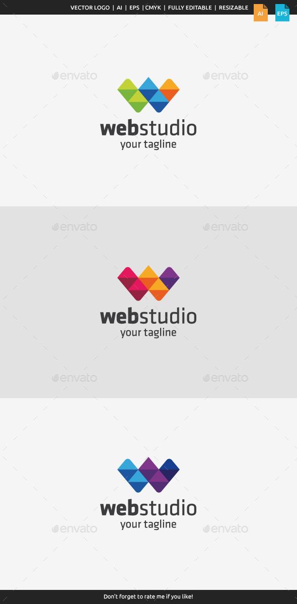 Web Studio - Letter W - Letters Logo Templates