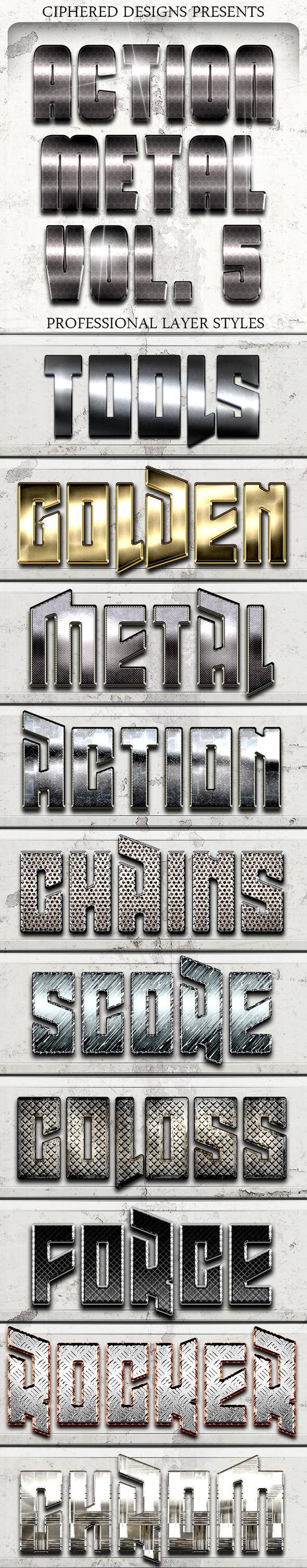 Action Metal 05 - Text Effects - Text Effects Styles