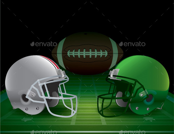 American Football Championship Illustration - Sports/Activity Conceptual