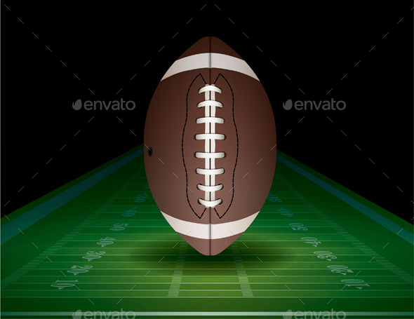 American Football and Field Illustration - Sports/Activity Conceptual
