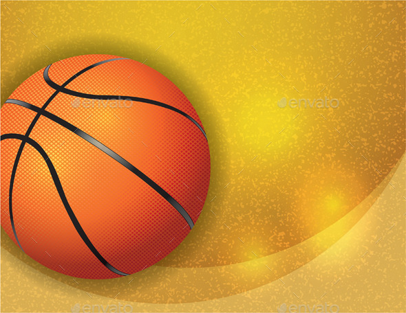 Basketball on Background Illustration - Sports/Activity Conceptual