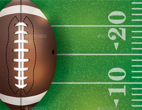 American Football Ball and Field - Sports/Activity Conceptual