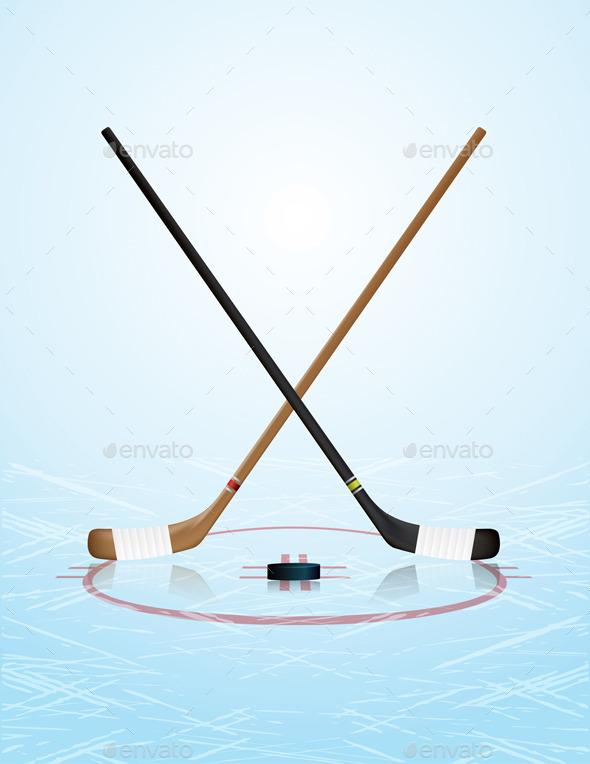 Ice Hockey Illustration - Sports/Activity Conceptual