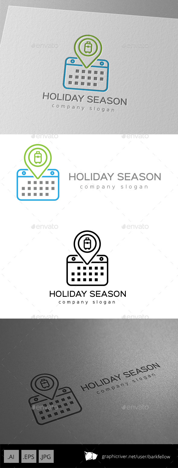 Holiday Season Calendar Logo - Symbols Logo Templates