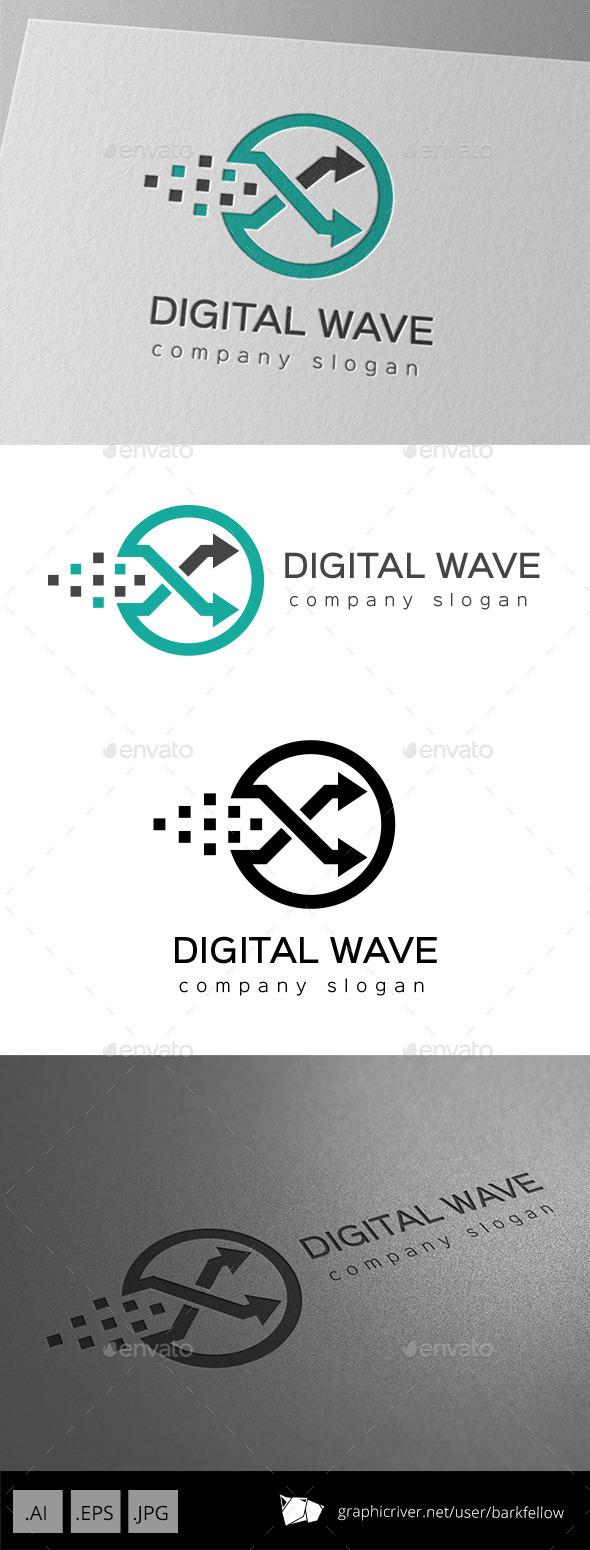 Circle Digital Arrow Logo - Symbols Logo Templates