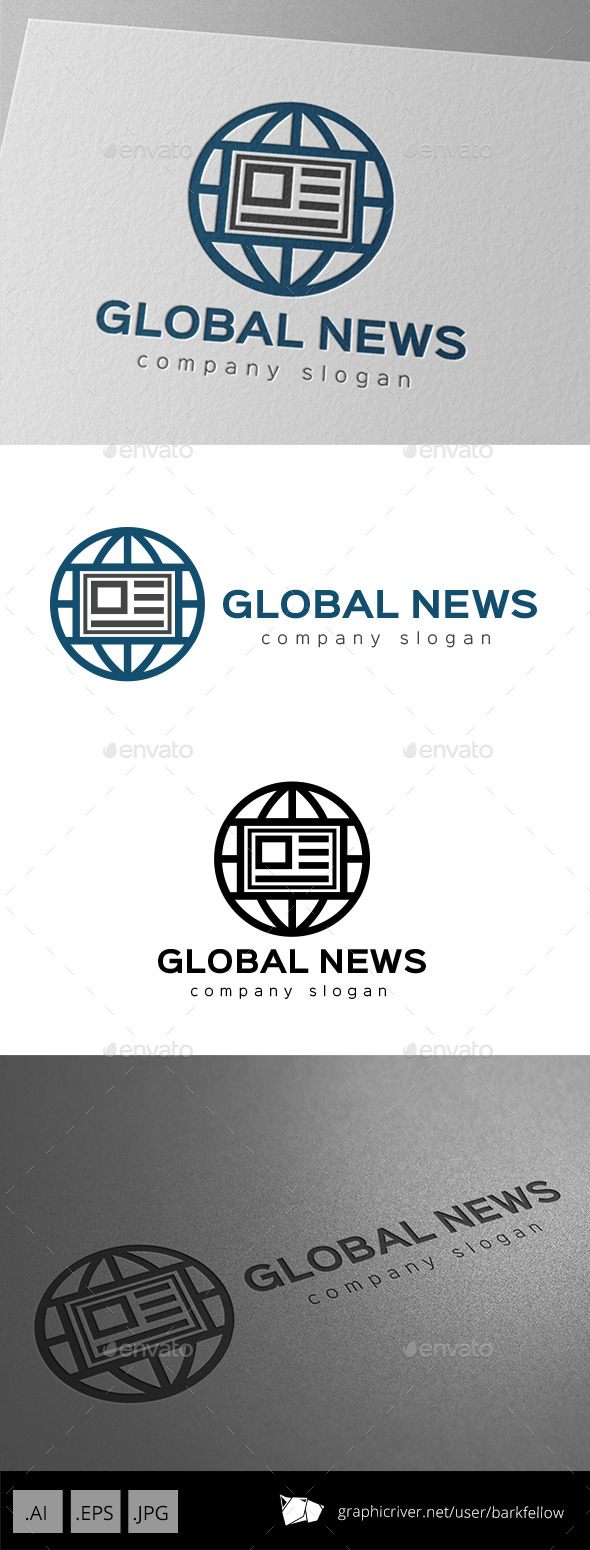 World Global News Logo - Symbols Logo Templates