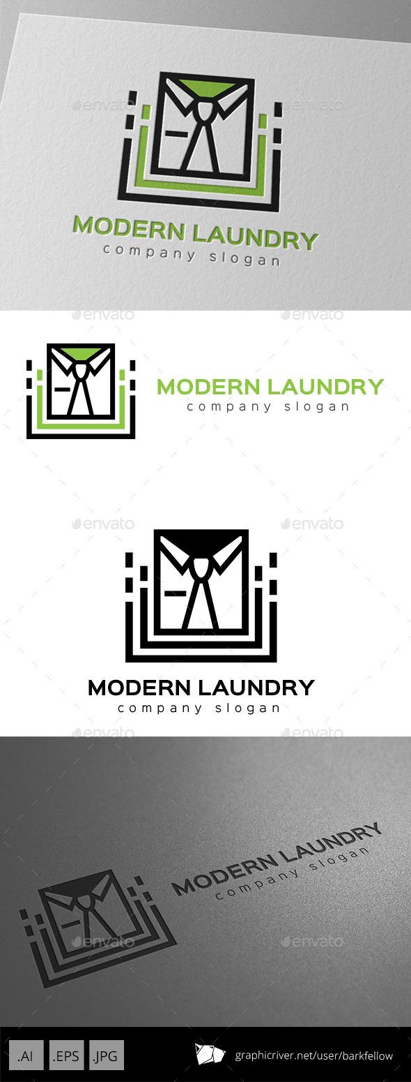 Modern Laundry Logo - Symbols Logo Templates