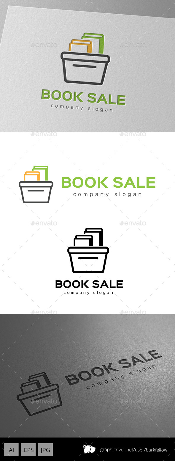 Book Sale Logo - Symbols Logo Templates
