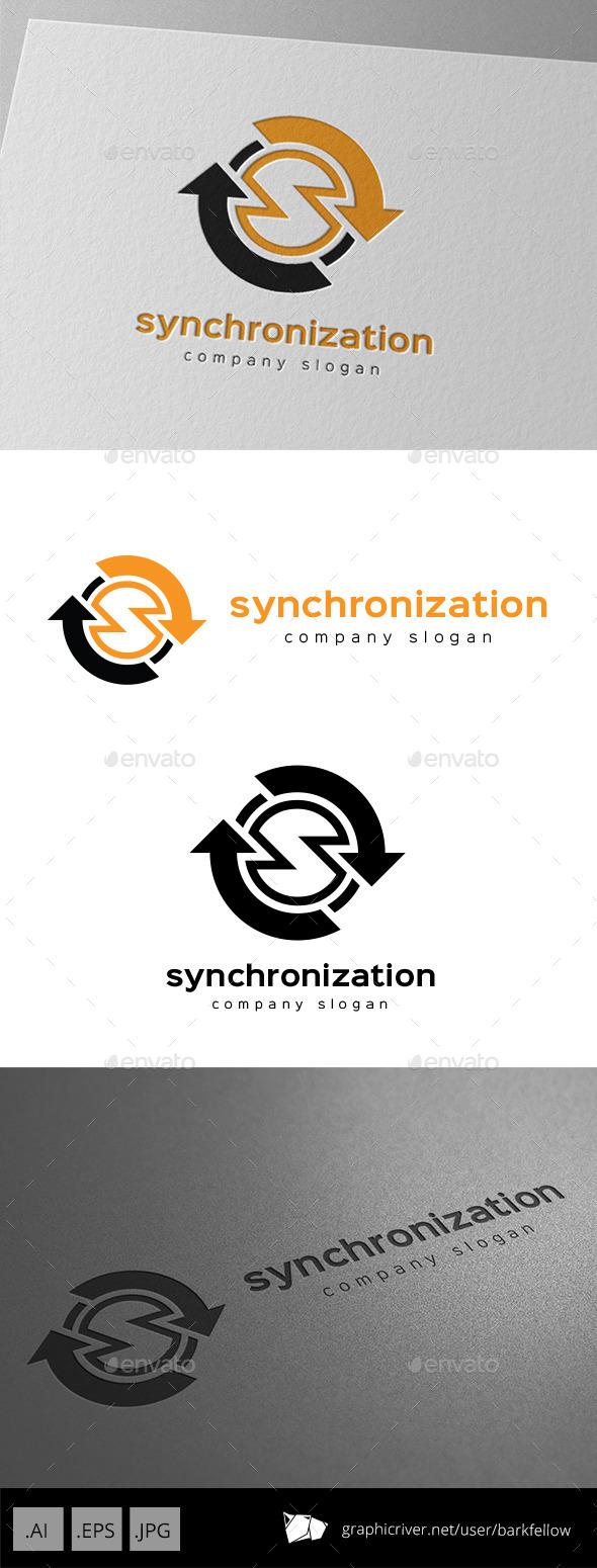 Synchronization Data Logo Letter S - Symbols Logo Templates