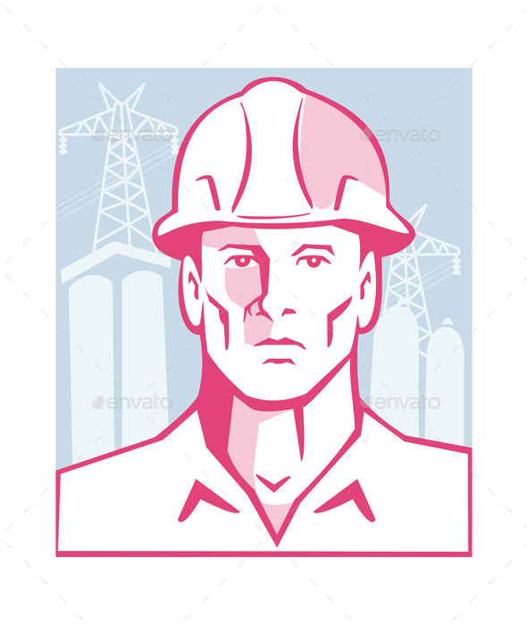 Construction Engineer Worker Hardhat - People Characters