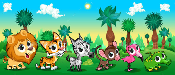 Animals in Forest  - Animals Characters
