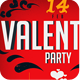 Valentines Day Party Flyer Template PSD  - GraphicRiver Item for Sale