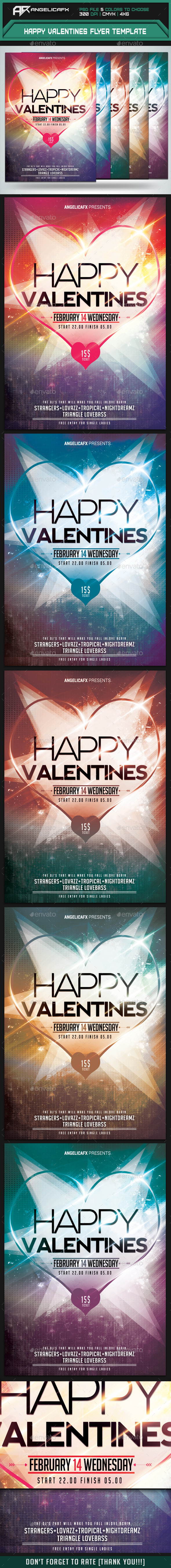 Happy Valentines Flyer Template - Events Flyers