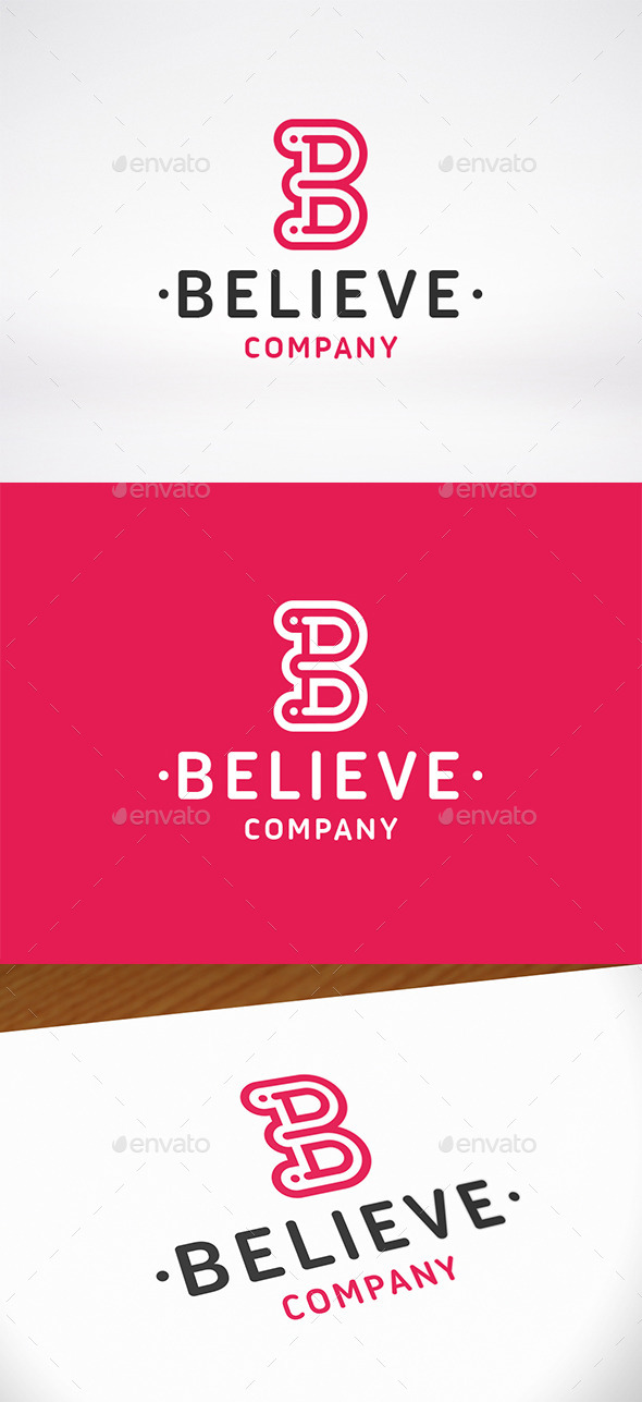 Believe Letter B Logo Template - Letters Logo Templates