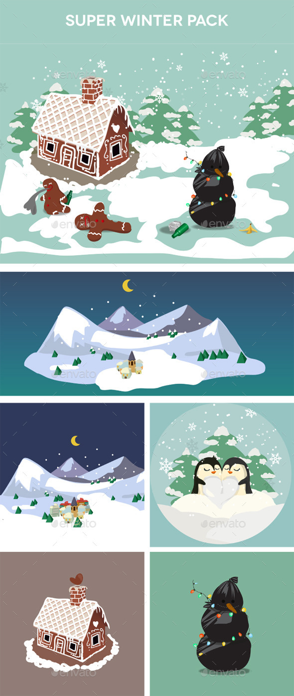Winter stickers pack - Seasons/Holidays Conceptual