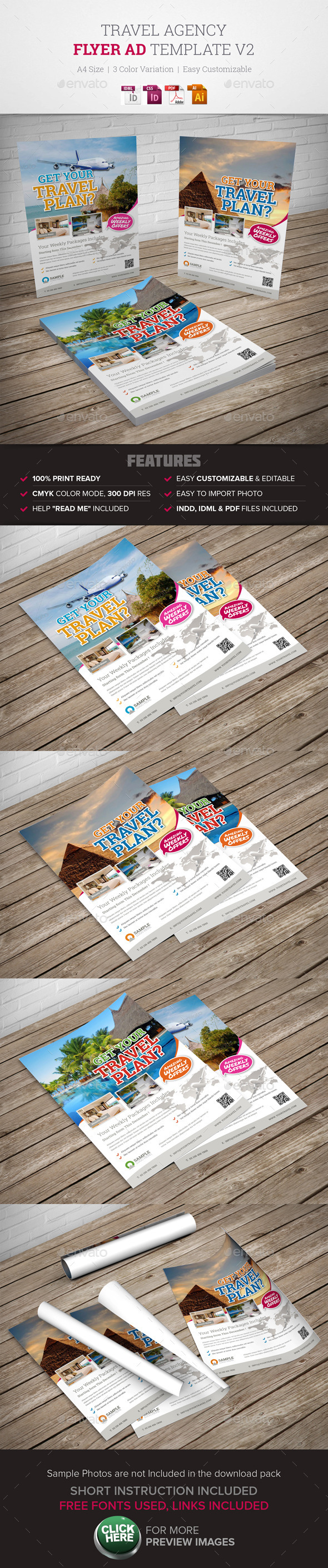 Travel Agency Flyer Ad v2  - Corporate Flyers