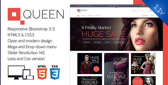 Queen – Responsive E-Commerce Template v 1.3