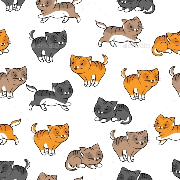 Cats Pattern - Animals Characters