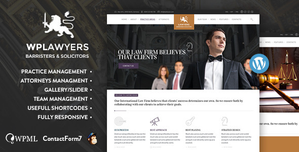 Top 30+ Best Lawyer WordPress Themes 2019 29