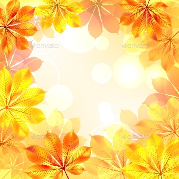 Autumn Background with Yellow Leaves. - Flowers & Plants Nature