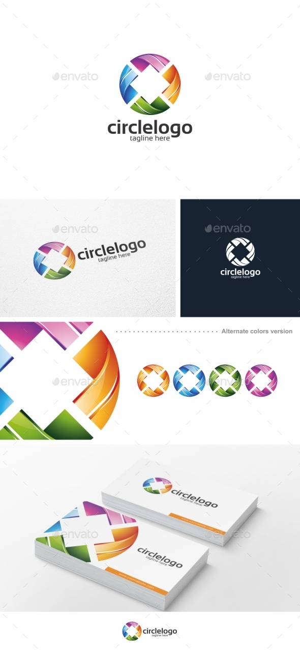 Colorful Circle - Logo Template - Abstract Logo Templates