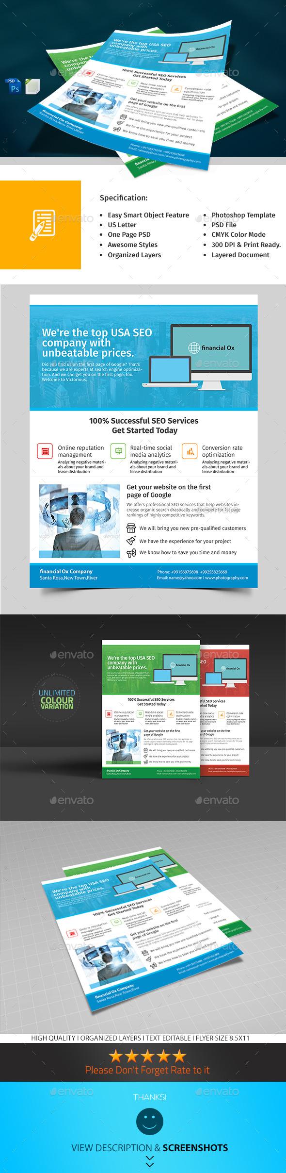 SEO Marketing Flyer - Corporate Flyers